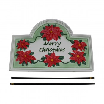 <PRE>Plaque White Cast Metal Christmas With Stand </PRE>zoom7