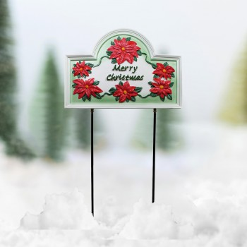 <PRE>Plaque White Cast Metal Christmas With Stand </PRE>zoom1