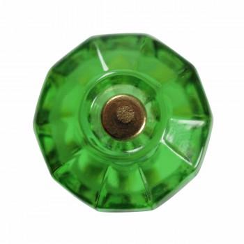 Cabinet Knob Emerald Green Glass 1 18 Dia Cabinet Hardware Cabinet Knobs Cabinet Knob
