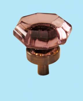 <PRE>Cabinet Knob Violet Glass 1inch Dia W/ Brass Back </PRE>zoom2