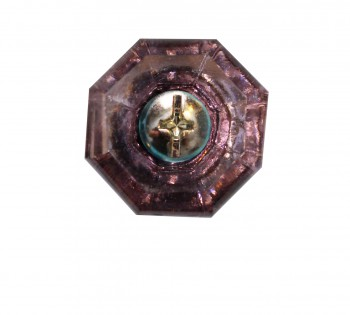 <PRE>Cabinet Knob Violet Glass 1inch Dia W/ Brass Back </PRE>zoom3