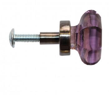 <PRE>Cabinet Knob Violet Glass 1inch Dia W/ Brass Back </PRE>zoom4