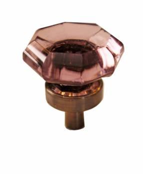 Cabinet Knob Violet Glass 1