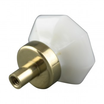 <PRE>Cabinet Knob Milk Glass 1inch Dia W/ Brass Back </PRE>zoom4