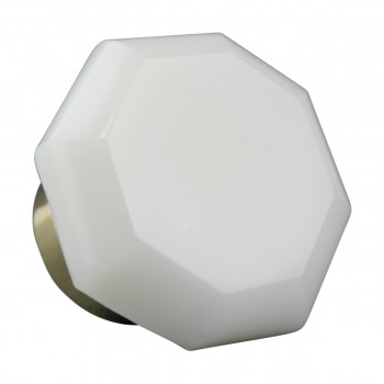 Cabinet Knob Milk Glass 1 Dia W Brass Back Round Kitchen Cabinet Knob Brass Cabinet Knobs Vintage Dresser Hardware Knobs