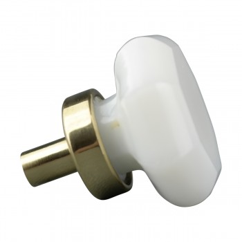 <PRE>Cabinet Knob Milk Glass 1inch Dia W/ Brass Back </PRE>zoom7