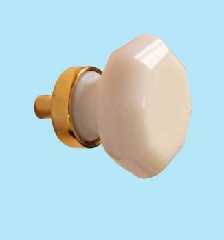 <PRE>Cabinet Knob Milk Glass 1 1/4inch Dia W/ Brass Back </PRE>zoom2