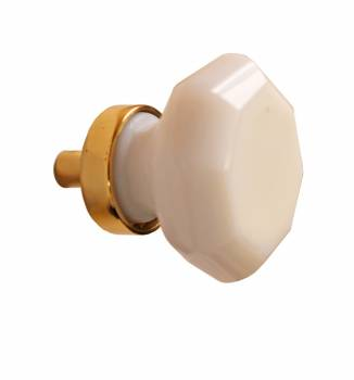 <PRE>Cabinet Knob Milk Glass 1 1/4inch Dia W/ Brass Back </PRE>zoom1