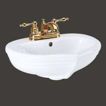 <PRE>Children's Bathroom Pedestal Sink White China Sweetheart </PRE>zoom2