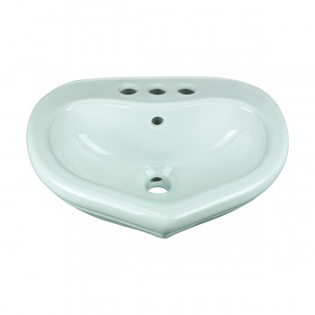 <PRE>Children's Bathroom Pedestal Sink White China Sweetheart </PRE>zoom3