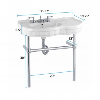 spec-<PRE>Renovator's Supply White Console Sink Southern Belle with Chrome Bistro Legs</PRE>