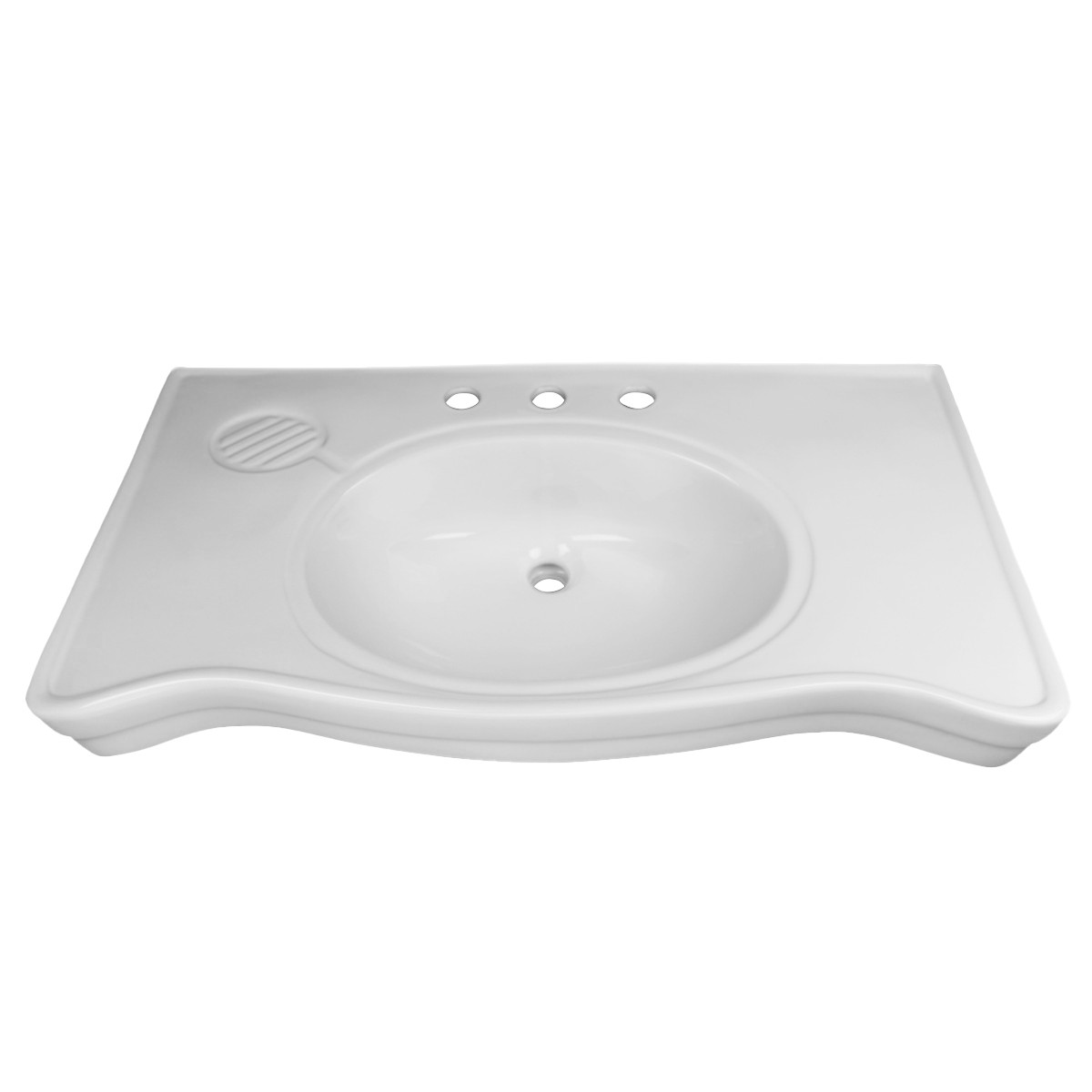White Console Sink Belle Epoque Deluxe with Chrome Bistro Legs Porcelain Console Sink Glossy Console Bathroom Sinks Wall Mount Console Sink