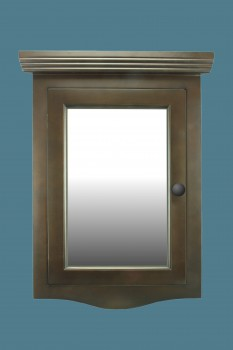 <PRE>Renovator's Supply Dark Oak Wall Mount Medicine Cabinet Corner With Mirror</PRE>zoom2