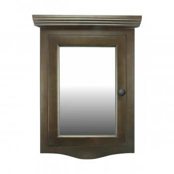 <PRE>Renovator's Supply Dark Oak Wall Mount Medicine Cabinet Corner With Mirror</PRE>zoom3