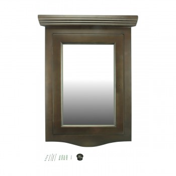 <PRE>Renovator's Supply Dark Oak Wall Mount Medicine Cabinet Corner With Mirror</PRE>zoom9