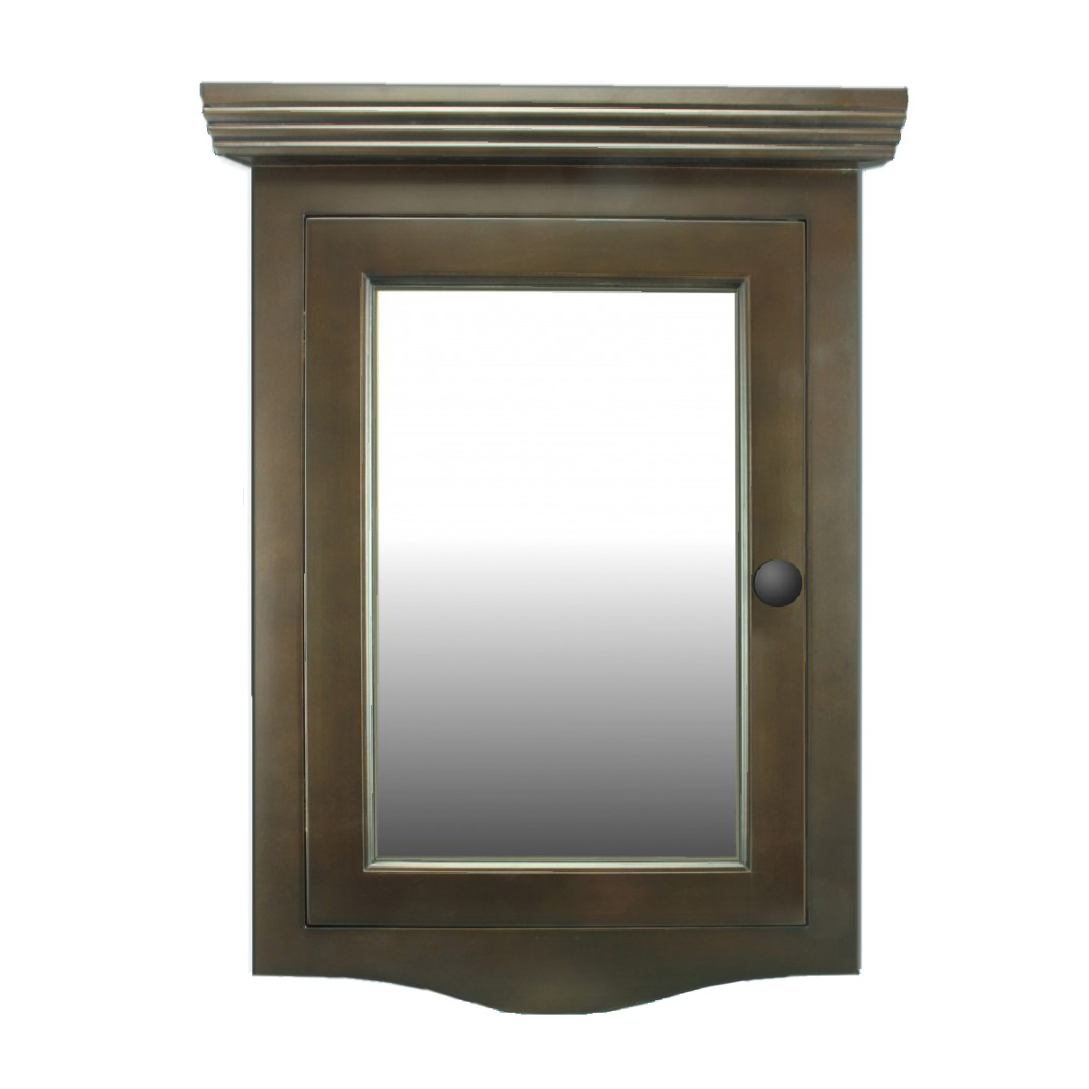 ... U003cPREu003eDark Oak Wall Mount Medicine Cabinet Corner With Mirror ...