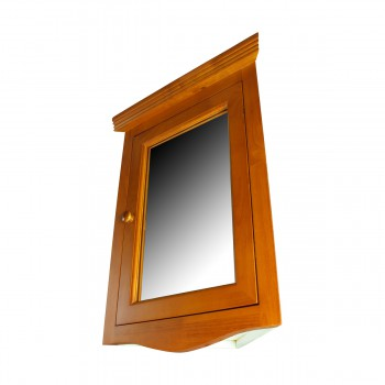 <PRE>Golden Oak Hardwood Medicine Cabinet Corner Wall Mount Renovator's Supply </PRE>zoom4