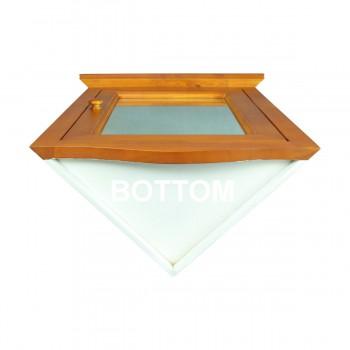 <PRE>Golden Oak Hardwood Barthoom Medicine Cabinet Corner Wall Mount</PRE>zoom4