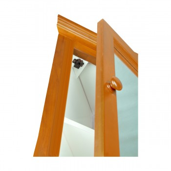 <PRE>Golden Oak Hardwood Barthoom Medicine Cabinet Corner Wall Mount</PRE>zoom5