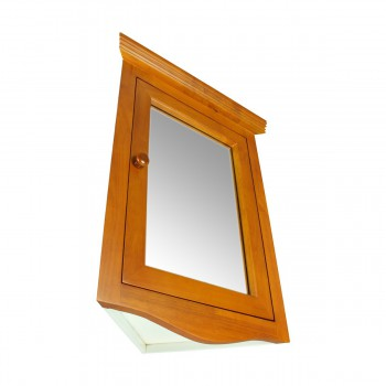 <PRE>Golden Oak Hardwood Medicine Cabinet Corner Wall Mount Renovator's Supply </PRE>zoom7