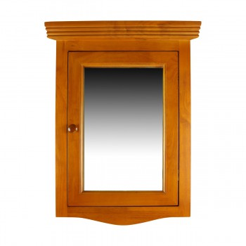 Golden Oak Hardwood Medicine Cabinet Corner Wall Mount Renovators Supply