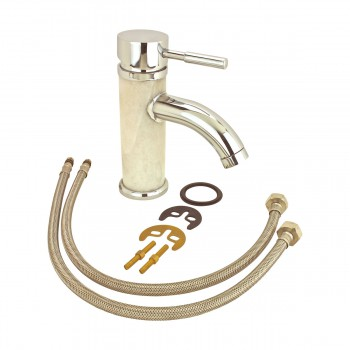 <PRE>Bathroom White Marble Faucet Chrome Single Hole 1 Handle </PRE>zoom7