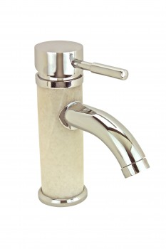 Bathroom White Marble Faucet Chrome Single Hole 1 Handle 14341grid