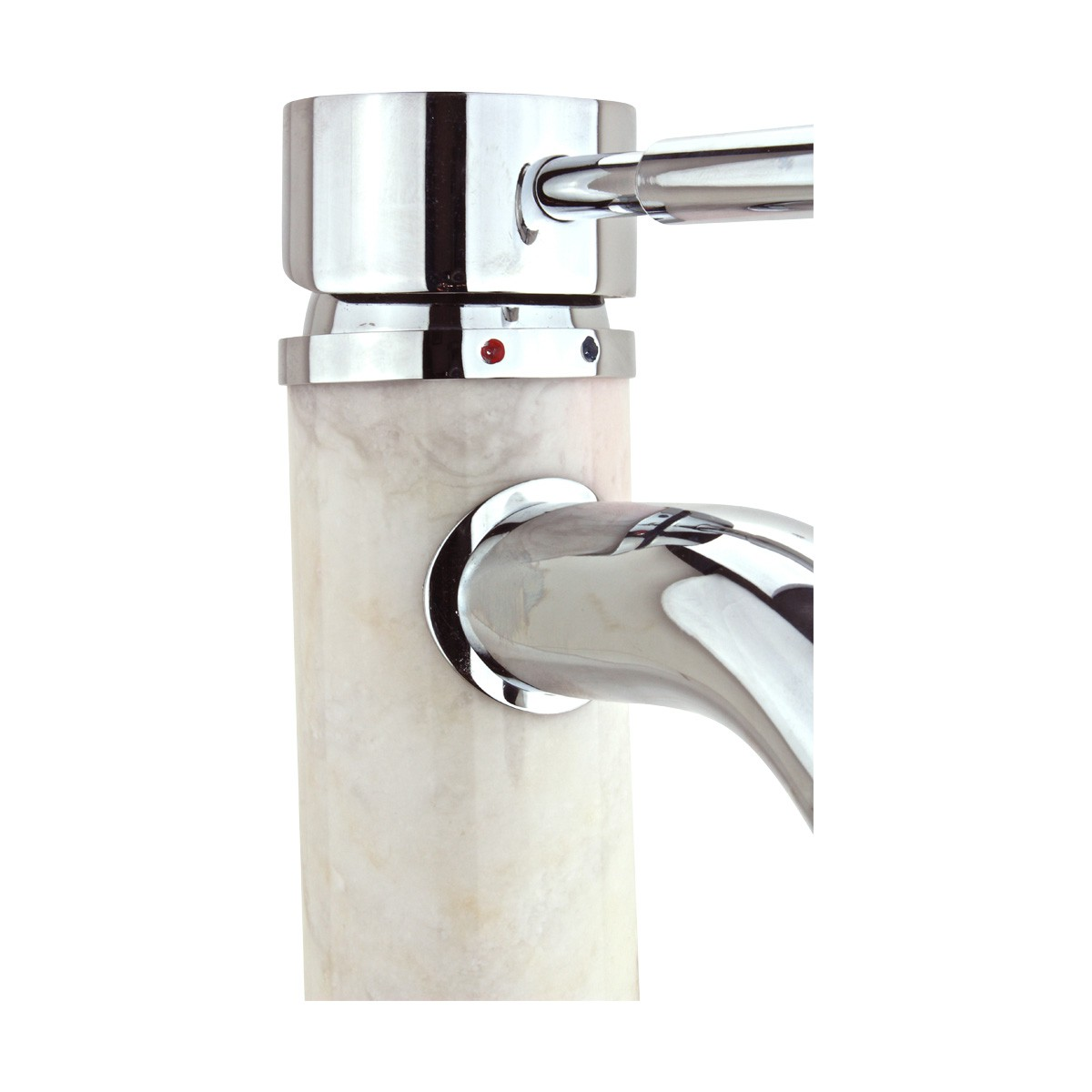 Bathroom White Marble Faucet Chrome Single Hole 1 Handle Faucets Bathroom Faucets Single Hole Faucet