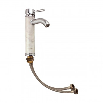 <PRE>Bathroom White Marble Faucet Chrome Single Hole 1 Handle </PRE>zoom12