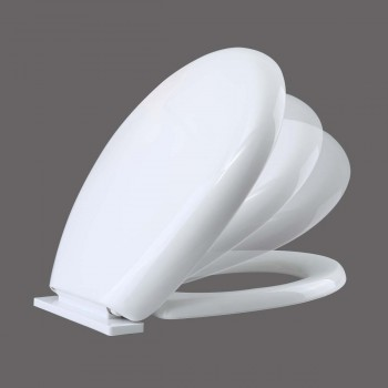 Toilet Seats - No-Slam White Round Slow Close Toilet Seat by the Renovator's Supply