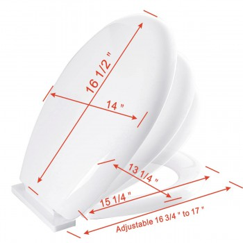 spec-<PRE>Toilet Seat Slow EZ Close No Slam Plastic Round White </PRE>