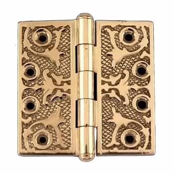 Victorian Solid Antique Brass Door Hinge Button Tip 4