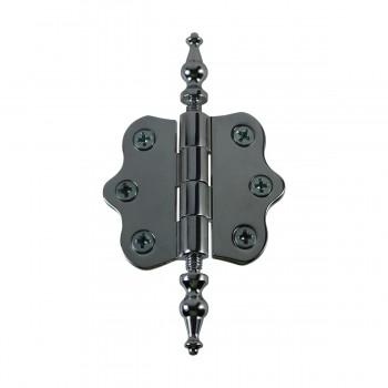 <PRE>Chrome Brass Cabinet Hinge Vintage Urn Tip 7/16H X 2W </PRE>zoom4