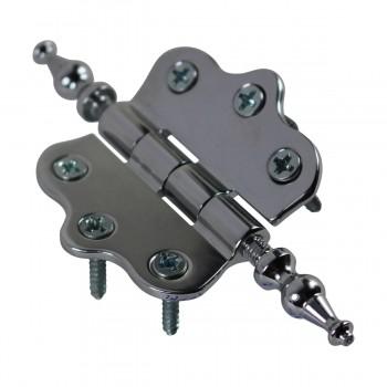 <PRE>Chrome Brass Cabinet Hinge Vintage Urn Tip 7/16H X 2W </PRE>zoom8