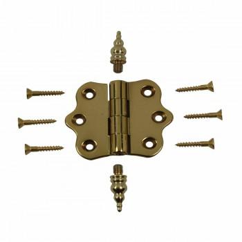 <PRE>Solid Brass Cabinet Hinge Vintage Steeple Tip 7/16H X 2W </PRE>zoom3