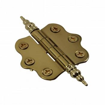 <PRE>Solid Brass Cabinet Hinge Vintage Steeple Tip 7/16H X 2W </PRE>zoom4