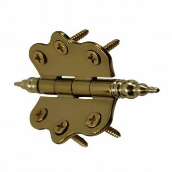 <PRE>Solid Brass Cabinet Hinge Vintage Steeple Tip 7/16H X 2W </PRE>zoom5
