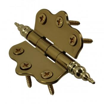 <PRE>Solid Brass Cabinet Hinge Vintage Steeple Tip 7/16H X 2W </PRE>zoom8