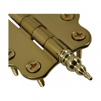 <PRE>Solid Brass Cabinet Hinge Vintage Steeple Tip 7/16H X 2W </PRE>zoom9
