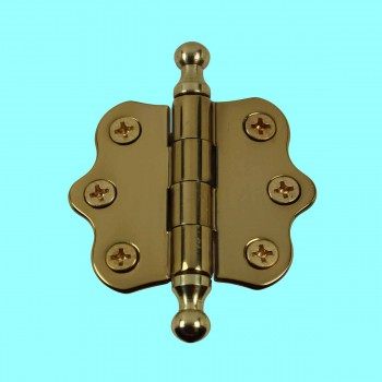 <PRE>Cabinet Hinges Brass Ball Finial Cabinet Hinge 1 7/16 H X 2 W</PRE>zoom2