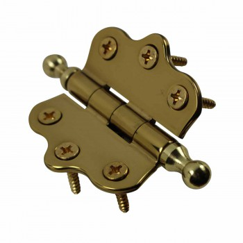 <PRE>Cabinet Hinges Brass Ball Finial Cabinet Hinge 1 7/16 H X 2 W</PRE>zoom4