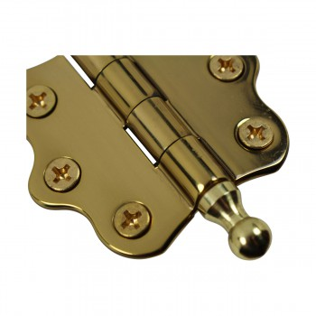 <PRE>Cabinet Hinges Brass Ball Finial Cabinet Hinge 1 7/16 H X 2 W</PRE>zoom6