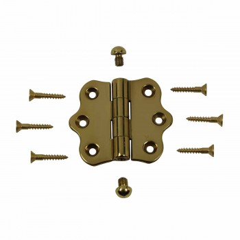 <PRE>Solid Brass Cabinet Hinge Vintage Button Tip 7/16H X 2W </PRE>zoom3
