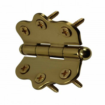 <PRE>Solid Brass Cabinet Hinge Vintage Button Tip 7/16H X 2W </PRE>zoom4