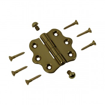 <PRE>Solid Brass Cabinet Hinge Vintage Button Tip 7/16H X 2W </PRE>zoom7
