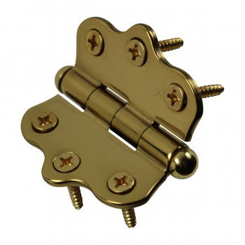 <PRE>Solid Brass Cabinet Hinge Vintage Button Tip 7/16H X 2W </PRE>zoom8
