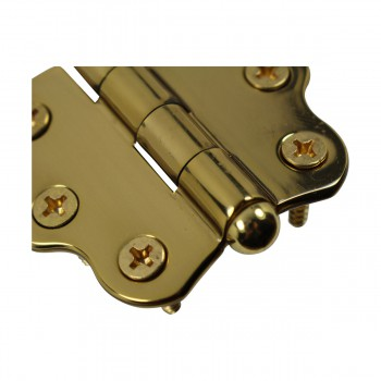 <PRE>Solid Brass Cabinet Hinge Vintage Button Tip 7/16H X 2W </PRE>zoom9