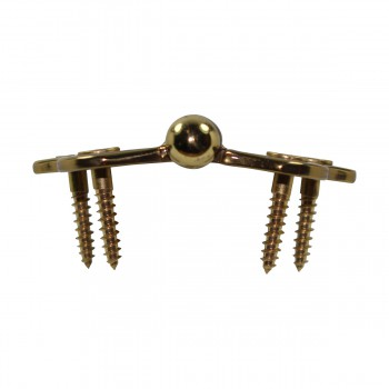 <PRE>Solid Brass Cabinet Hinge Vintage Button Tip 7/16H X 2W </PRE>zoom10