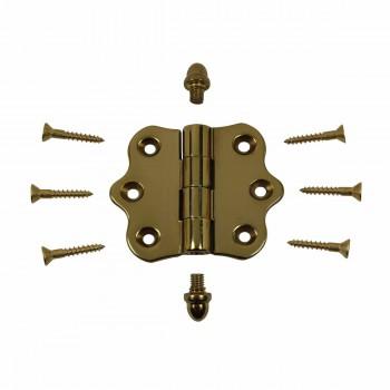 <PRE>Solid Brass Cabinet Hinge Vintage Helmet Tip 7/16H X 2W </PRE>zoom3