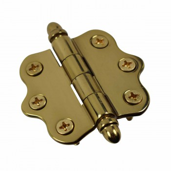 <PRE>Solid Brass Cabinet Hinge Vintage Helmet Tip 7/16H X 2W </PRE>zoom4